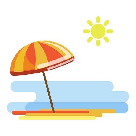 water: Beach umbrella in sunny day
