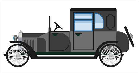 rarity: Vintage gray car Illustration