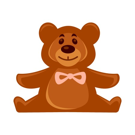 Little toy brown bear Illustration