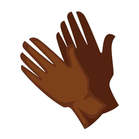 personal accessories: Brown colored leather gloves