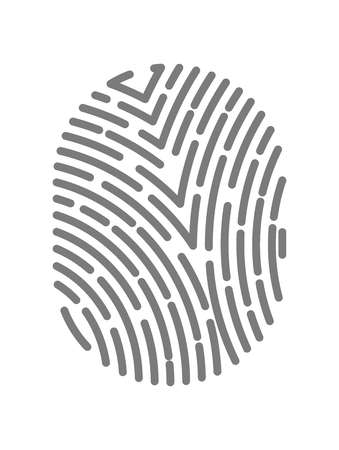 dactylogram: Fingerprint type with dashed line signs.