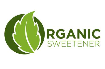 Organic sweetener green symbol of stevia or sweet grass logo Illustration