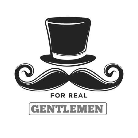 Private club only for real gentlemen black and white logotype