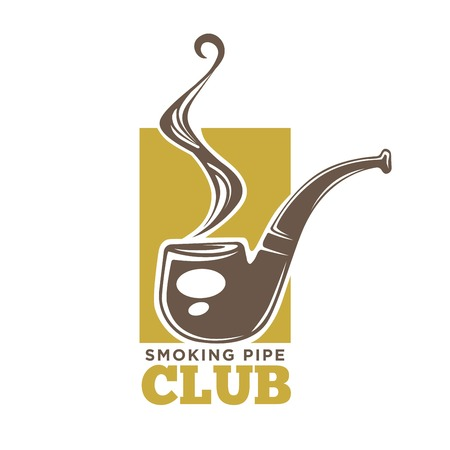 Smoking Pipe club colorful logotype isolated on white