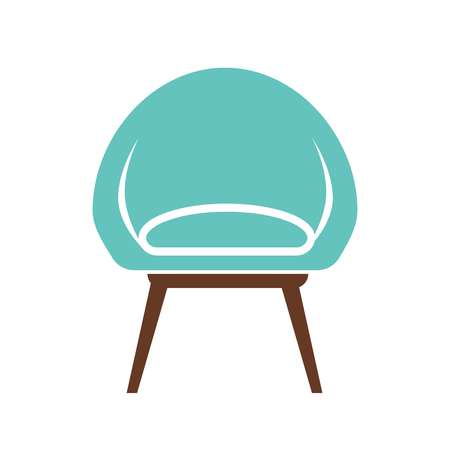 home: Chair icon vector illustration isolated on white background.
