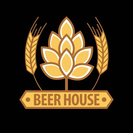 Beer house emblem template Illustration