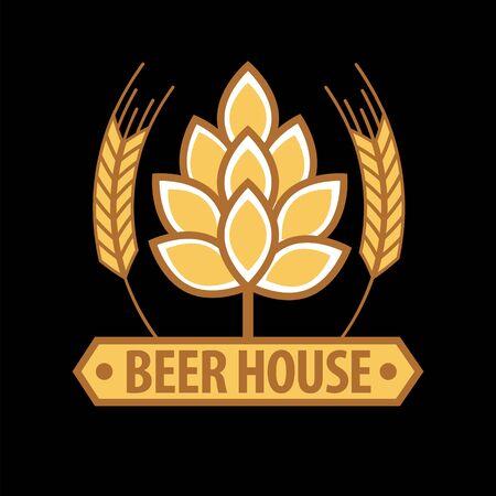 Beer house emblem template Illustration