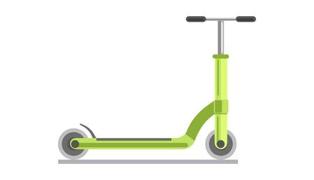 Green kick scooter Illustration