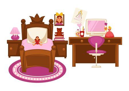 Bedroom of little girl