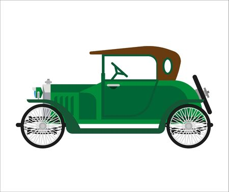 restored: Short green vintage car