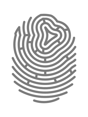fingermark: Gray colored fingermark Illustration