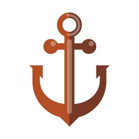 heavy industry: Simple rusty anchor. Illustration