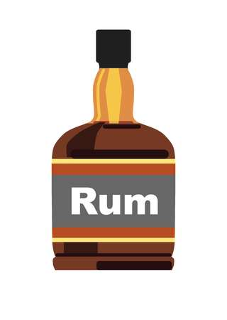 Bottle with rum.