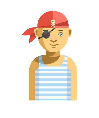 Pirate with one eye