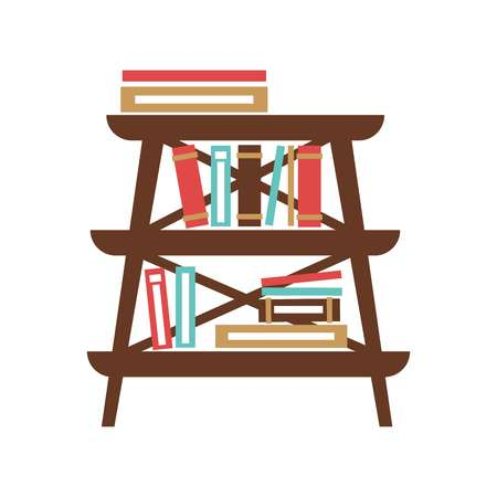 modern interior: Small stand with books Illustration