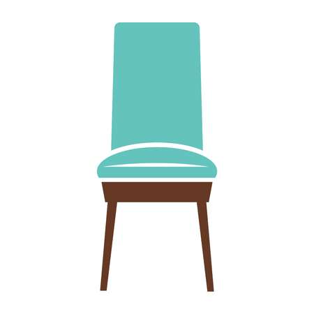 minimalistic: Minimalistic blue chair Illustration