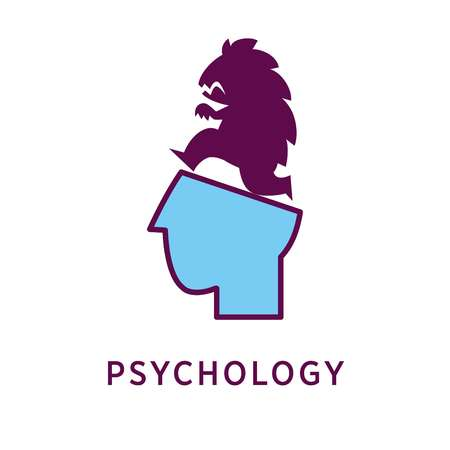 psychoanalysis: Head with monster on top