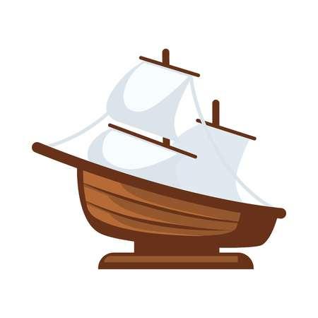 Klein zeilboot figurine