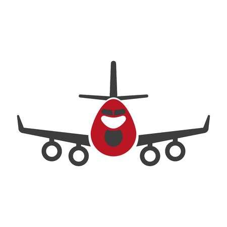 Avia transportation logistics aircraft or plane vector flat isolated icon. Illustration