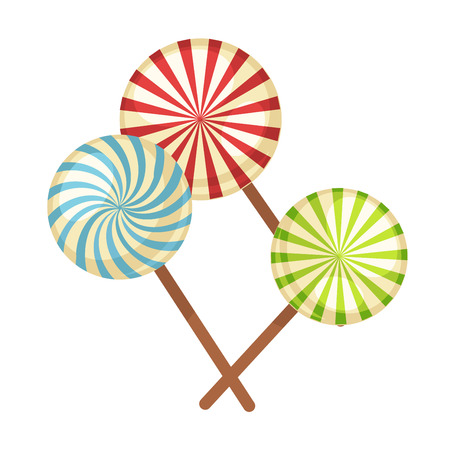 Lollipop hard candy vector isolated flat icons