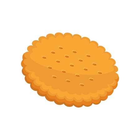 fattening: Cracker vector illustration, fresh pastry in flat design. Illustration