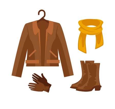 Elegant clothes and accessories