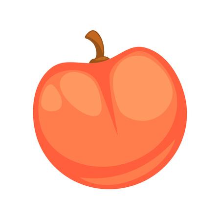 ripe: Fresh red apple isolated on white graphic illustration Illustration