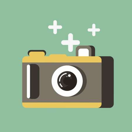 template: A Small photo camera Illustration