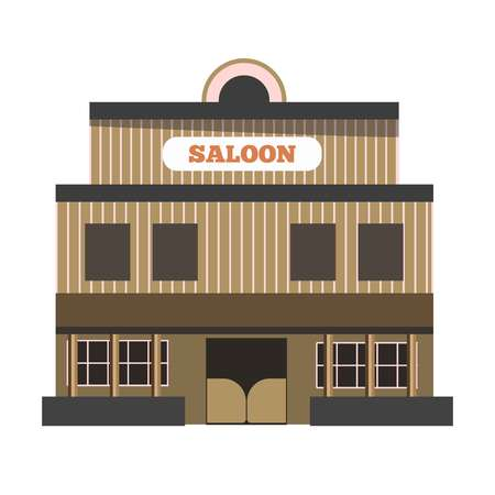 abandoned house: Vintage saloon building