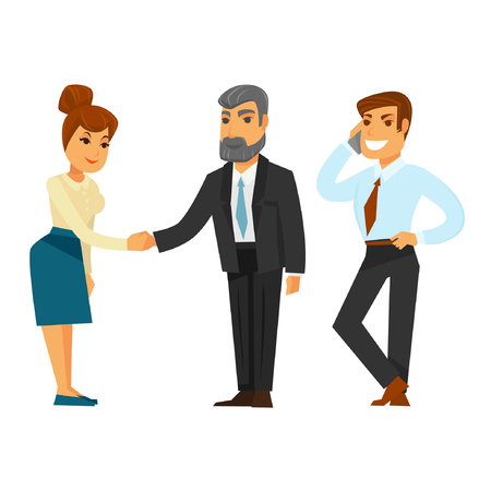 Business people in formal office clothes isolated illustrations set Illustration