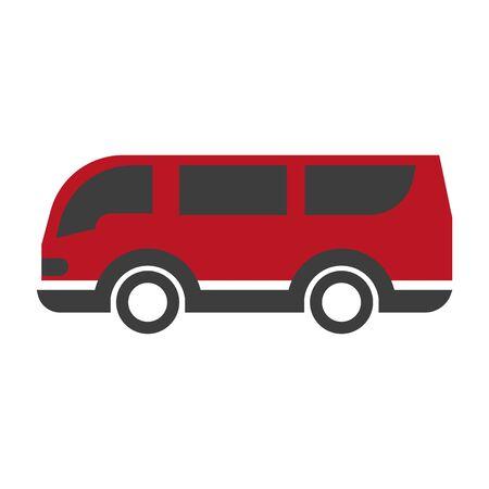 Red and black van Stock Photo