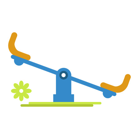 Carousel rocker for children amusement isolated on white Illustration