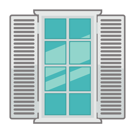 Vector window for interior and exterior design use. Flat style.