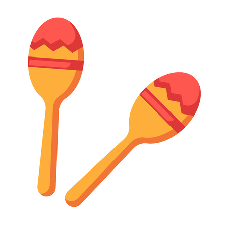 Shock-and-noise instrument of Indians - maracas isolated illustration Illustration