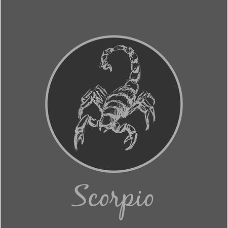 蠍座占星術の黄道帯の記号です。星座に登録。  イラスト・ベクター素材