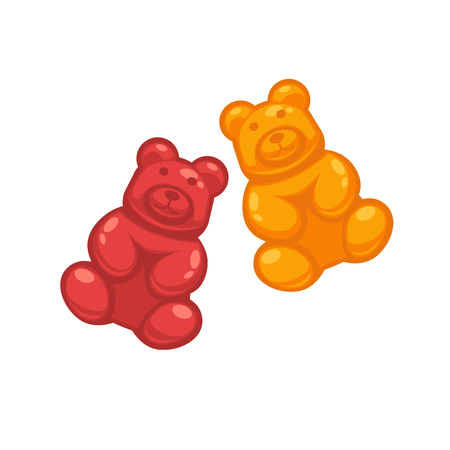 Different colored jelly bears Illustration