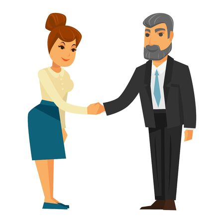 man: People shaking hands