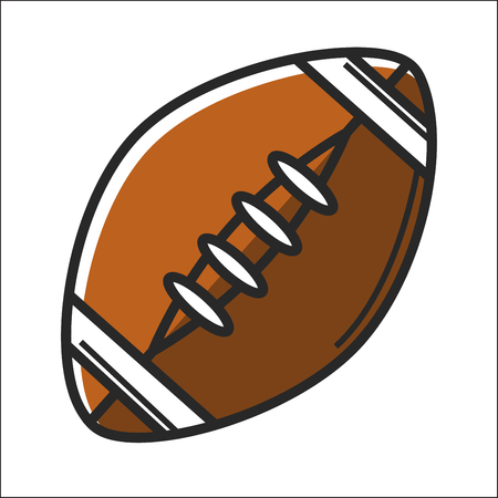American football ball in graphic design on white Illustration