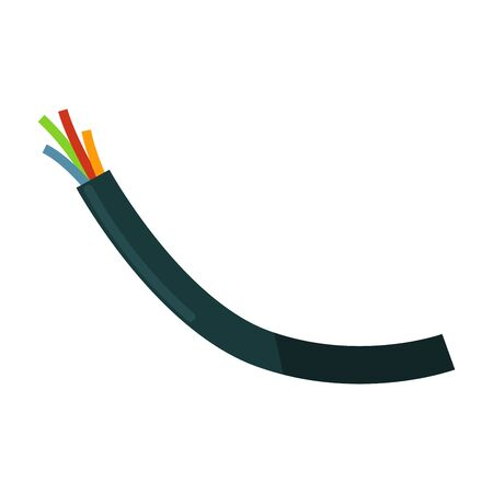 Wires in braiding Illustration