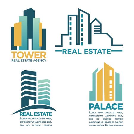 assortment: Simple rel estate emblems Illustration