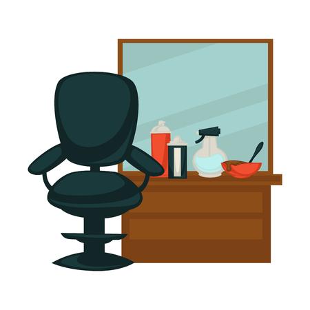 salon: Chair in beauty salon