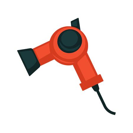 Black and red hair dryer Illustration