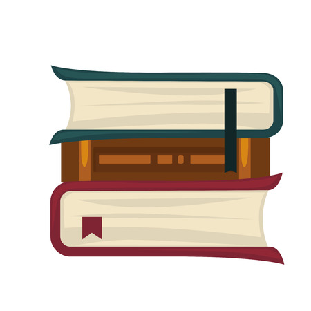 domestic: Books placed in roll Illustration