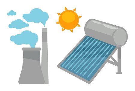 Alternative eco energy devices vector set on white