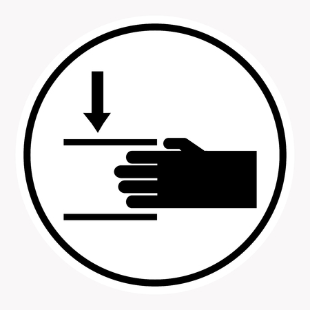 low temperature: warning and danger sign attention symbol. Illustration