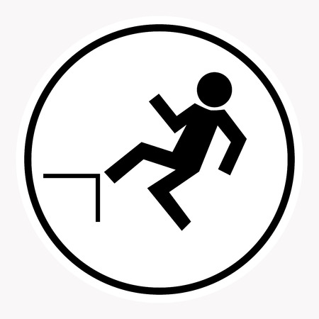 rockfall: warning and danger sign attention symbol. Illustration
