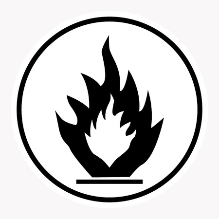 explosion hazard: warning and danger sign attention symbol. Illustration