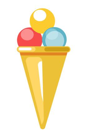 Beach bar ice cream dessert summer vector flat icon