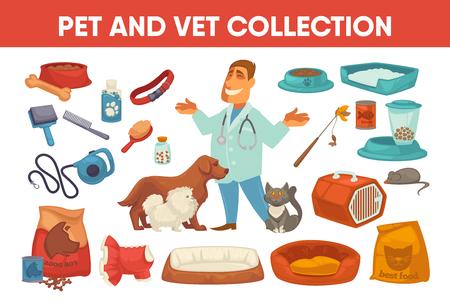 stuff toy: Dog cat pet stuff and supply set