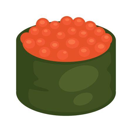 Maki sushi with caviar.